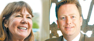 Former U.S. Rep. Ann Kirkpatrick and former Arizona state Sen. Jonathan Paton have raised the bulk of the money for their campaigns from outside the sprawling, new 1st Congressional District.