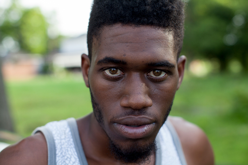 """Patrick Holmes, 19, describes the challenges of living in Scotlandville, a low-income neighborhood in northwest Baton Rouge, La. """"It ain't nobody down here that won't shoot you,"""" he said. """"The more friends you have, the more trouble you have.""""  Photo by Jon LaFlamme/News21"""