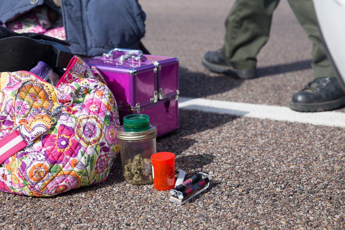Deputy finds several containers of marijuana
