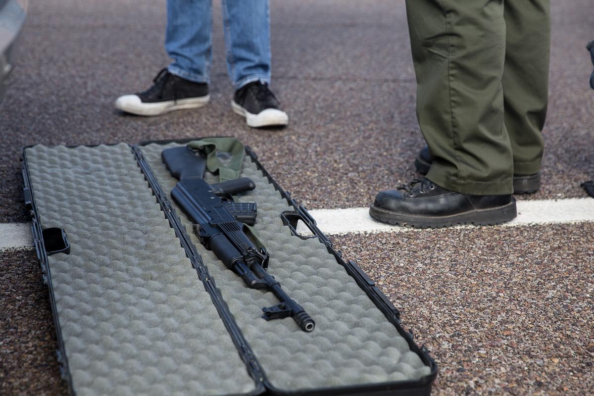 Deputy finds rifle