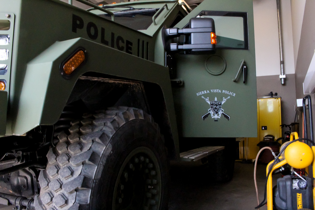Sierra Vista Police armored vehicle