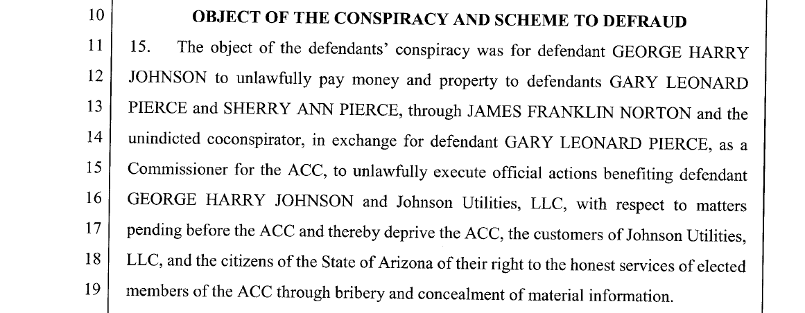 Ex-regulator Pierce, lobbyist Norton, utility owner Johnson charged with conspiracy, bribery, fraud