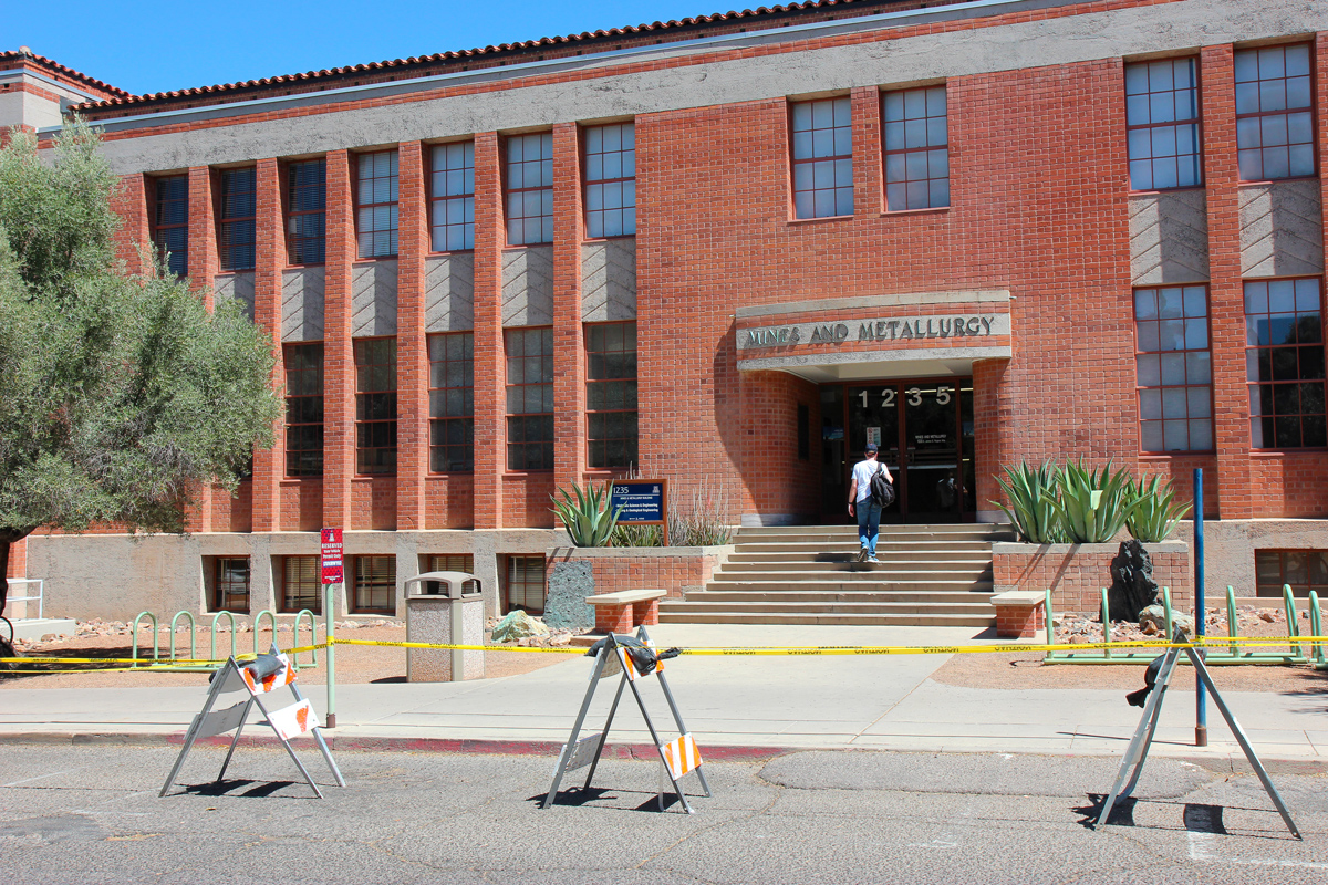Mines and Metallurgy is one of many buildings at the University of Arizona that has backlogged maintenance needs. Facilities Management estimates the building needs more than $7 million in repairs. (Photograph by Julianne Stanford/AZCIR)
