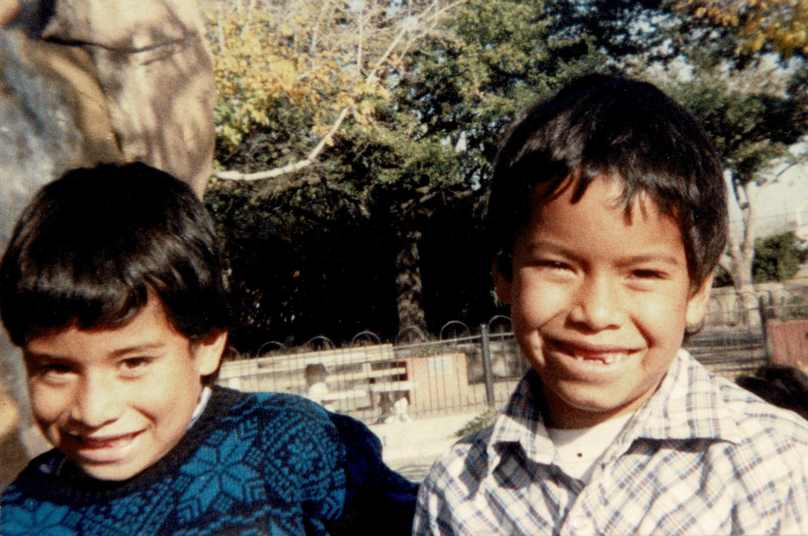 Adrian, left, is shown with his brother Richy in this undated photo from their childhood. Photo courtesy Richy Perez